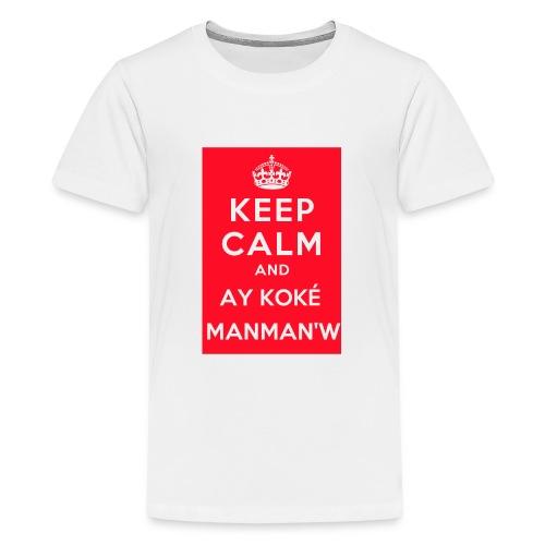 keepcalm MANMANW - T-shirt Premium Ado
