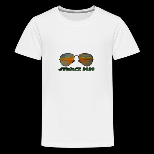 Summer 2020 Beach Vacation Sunglasses - Teenager Premium T-Shirt