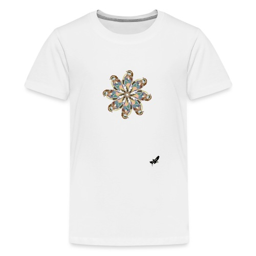 'Sparrow Mandala' by BlackenedMoonArts, w. logo - Teenager premium T-shirt