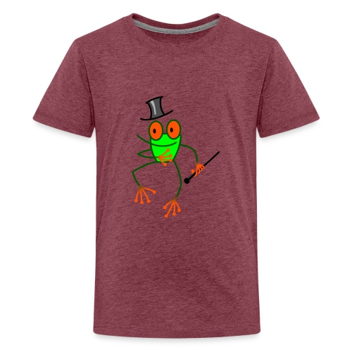 Dancing Frog - Teenage Premium T-Shirt