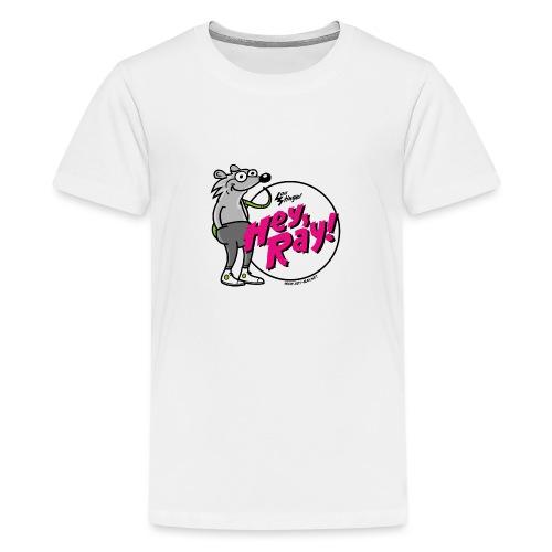 Hey Ray! Logo magenta - Teenager Premium T-Shirt