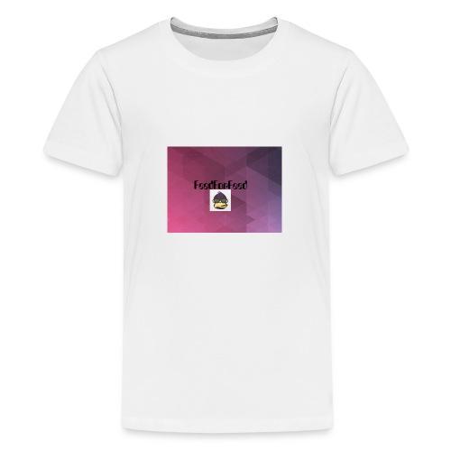 FeedForFeed! logo - Premium T-skjorte for tenåringer