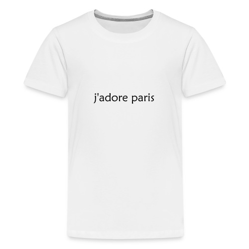 'I Love Paris' French - Teenage Premium T-Shirt