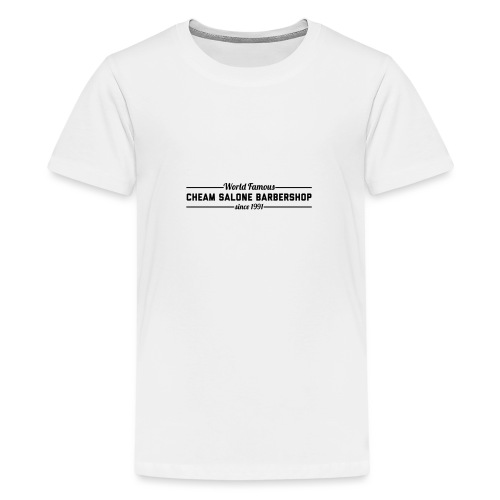 Barbershop black on white. - Teenage Premium T-Shirt