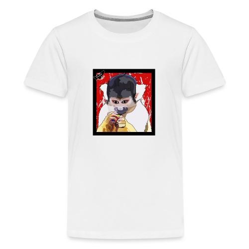 'Clever Monkey 2' by BlackenedMoonArts, w. logo - Teenager premium T-shirt