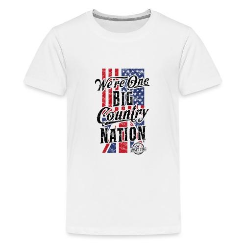 Country Nation Ladies Scoop Tee - Teenage Premium T-Shirt