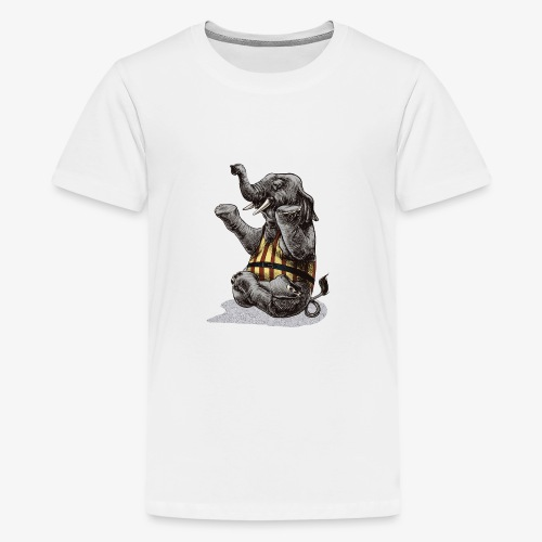 Elephant Yoga - Teenage Premium T-Shirt