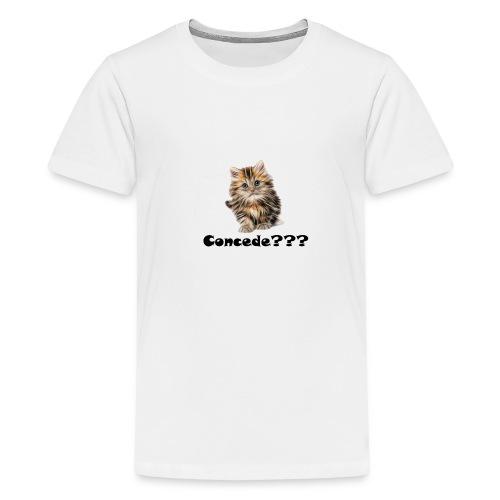 Concede kitty - Premium T-skjorte for tenåringer