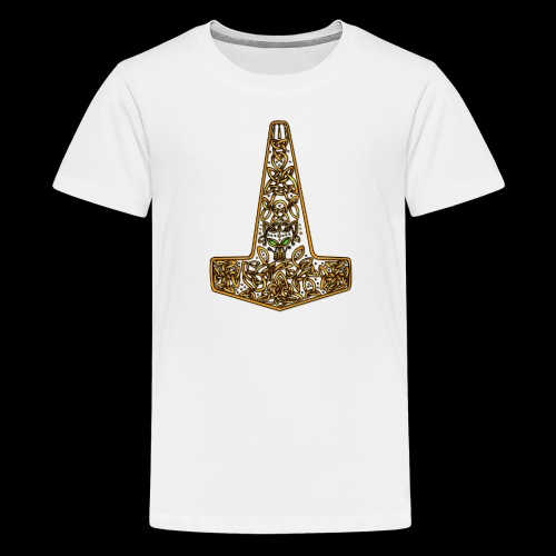 Wolf of Tyr - Gold - Teenage Premium T-Shirt