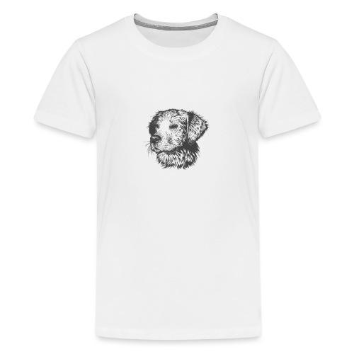 koiran kuva - Teinien premium t-paita