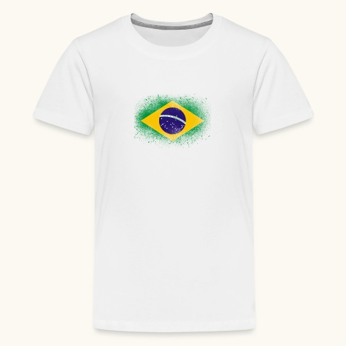 Drapeau brésilien cadeau du Brésil - T-shirt Premium Ado