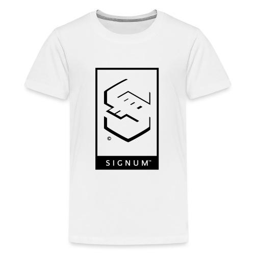 signumGamerLabelBW - Teenage Premium T-Shirt