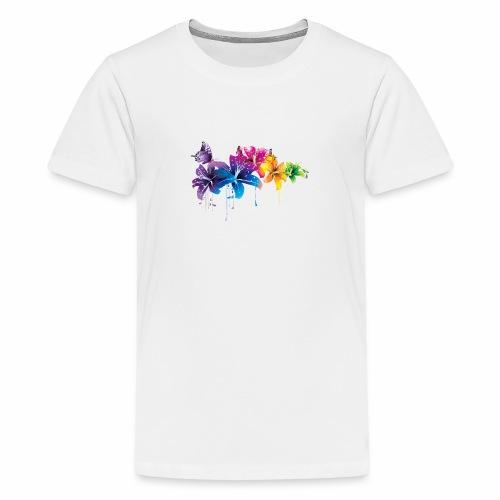 Flowers Vectors PNG - Camiseta premium adolescente