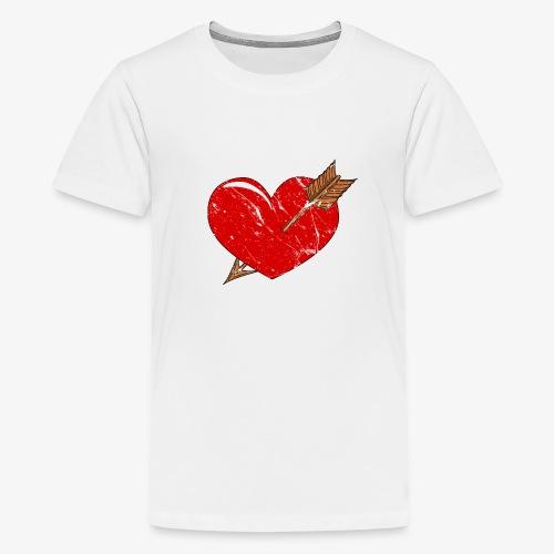 Herz Pfeil - Teenager Premium T-Shirt