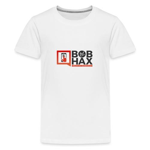 LOGO BobHax nero trasp - Maglietta Premium per ragazzi