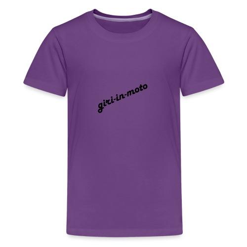 GIRI IN MOTO LIFESTYLE LADY NERO - Maglietta Premium per ragazzi