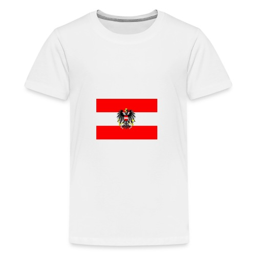 oesterreichmitwappenflagge lx 2 png - Teenager Premium T-Shirt