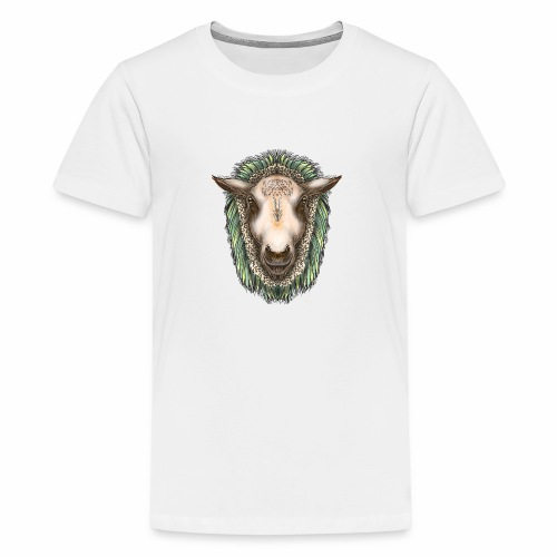 Zed The Sheep by Jon Ball - Teenage Premium T-Shirt
