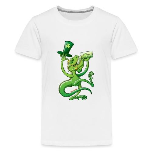 Saint Patrick's Day Iguana - Teenage Premium T-Shirt
