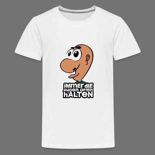 Silmät - Teinien premium t-paita