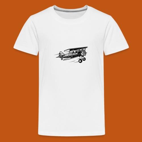 Flieger / Airplane 01_schwarz - Teenager Premium T-Shirt