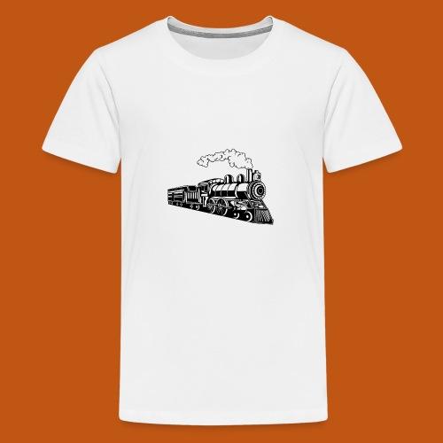 Lokomotive / Locomotive 02_schwarz - Teenager Premium T-Shirt