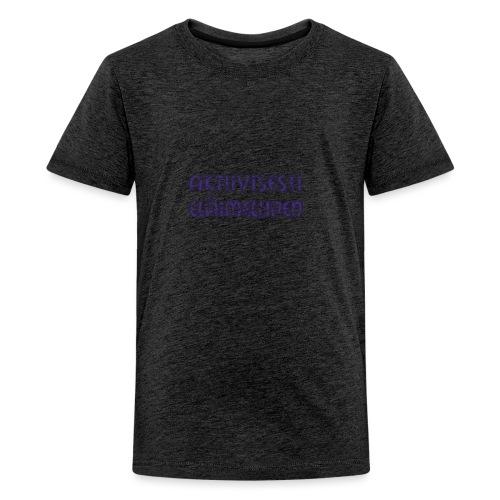 Aktiivisesti eläimellinen - Violetti - Teinien premium t-paita
