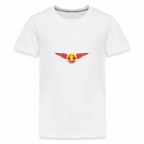 Car flames crest 3c - Teenage Premium T-Shirt