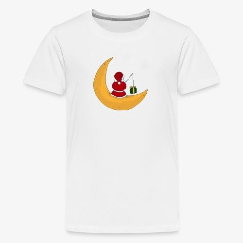 Santa sur un croissant de lune - Teenage Premium T-Shirt