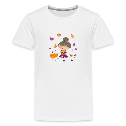 Happy Meitli - Yoga und Meditation - Teenager Premium T-Shirt