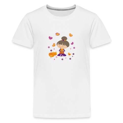 Happy Meitli - Yoga und Meditation - Teenager Premium T-Shirt