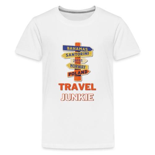traveljunkie - i like to travel - Teenager Premium T-Shirt