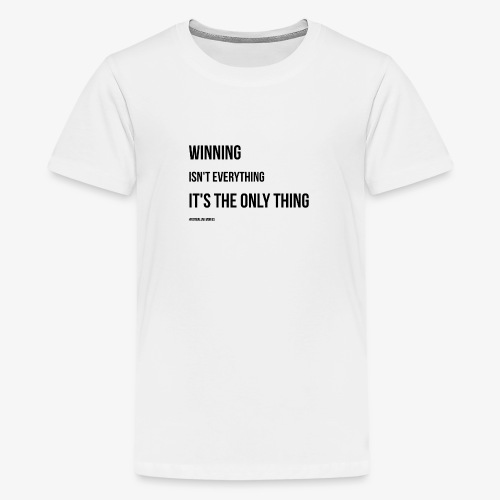 Football Victory Quotation - Teenage Premium T-Shirt