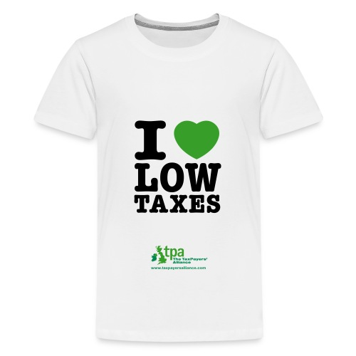 i love low taxes cmyk 2 spots 2 - Teenage Premium T-Shirt