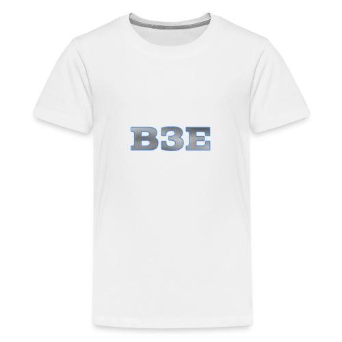 B3E: Logo - GlowingSteel - Teenage Premium T-Shirt