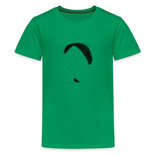 Paraglider scribble black - Teenager Premium T-Shirt