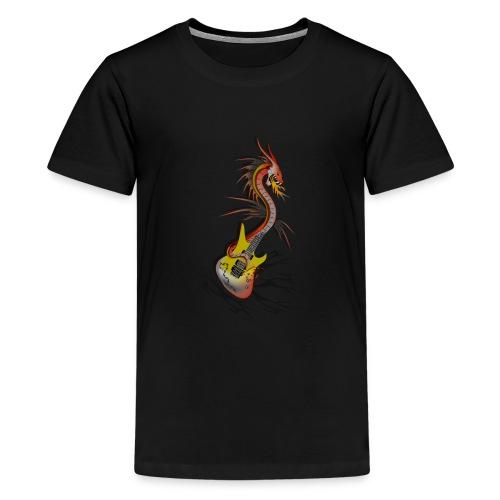 Guitar Dragon - Teenager Premium T-Shirt