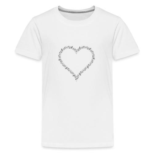 Music of Life Ladies Fitted - Teenage Premium T-Shirt
