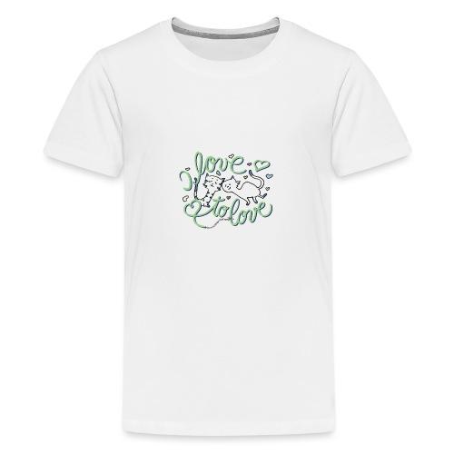 Belle & Balduin - komplett verschmust - Teenager Premium T-Shirt