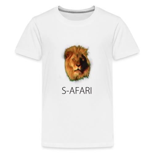 S-AFARI Lion - Teenage Premium T-Shirt