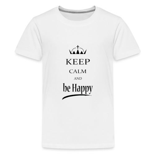keep_calm and_be_happy-01 - Maglietta Premium per ragazzi