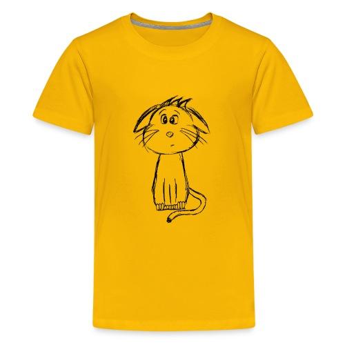 Kissa Kissanpentu musta scribblesirii - Teinien premium t-paita
