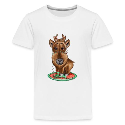 Reindeer refined scribblesirii - Teenager premium T-shirt