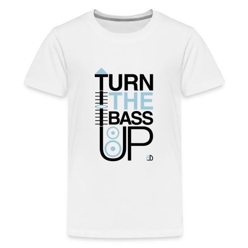 TURN THE BASS UP - Speaker and Music - Teenage Premium T-Shirt