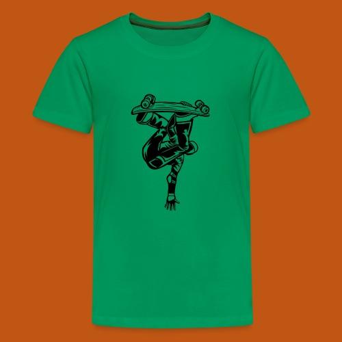 Skater / Skateboarder 03_schwarz - Teenager Premium T-Shirt