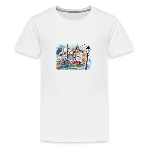 Smeaton's Tower & Plymouth Hoe/Barbican - Teenage Premium T-Shirt