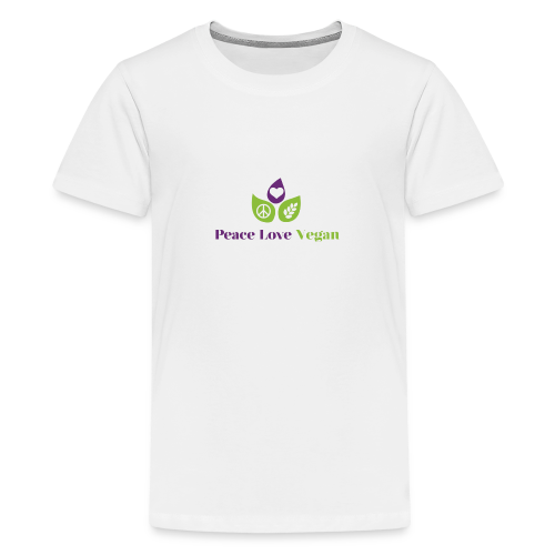 Peace Love Vegan - Teenage Premium T-Shirt