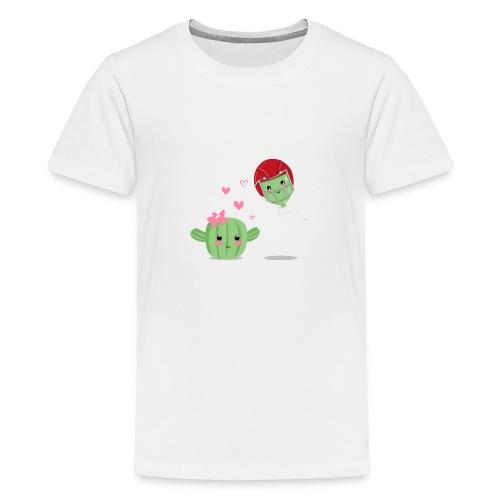 Cactus y Globo, amor - Camiseta premium adolescente