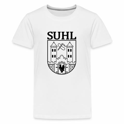 Suhl Coat of Arms (black) - Teenage Premium T-Shirt