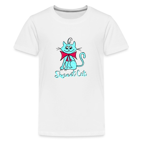 Niedliche kleine blaue Katze, Sweet! - Teenager Premium T-Shirt